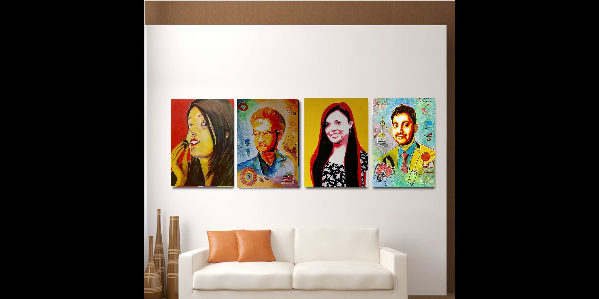 Beautiful pop retro art customized for specific gifting needs